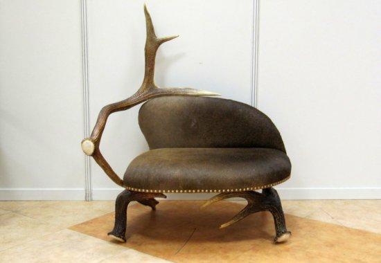 эксклюзивное дизайнерское кресло из рогов