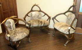 Мебель из оленьих и лосиных рогов