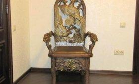 резное кресло ручной работы - ВИП подарок