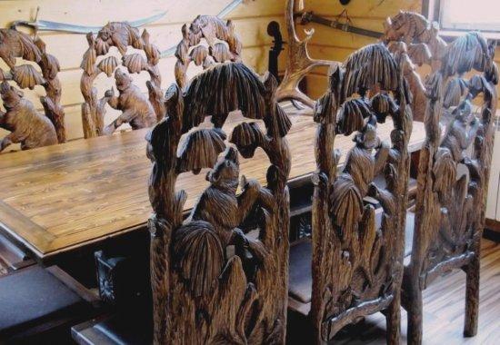 резная мебель ручной работы