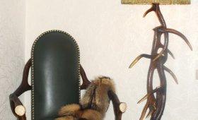 Торшер из оленьих рогов